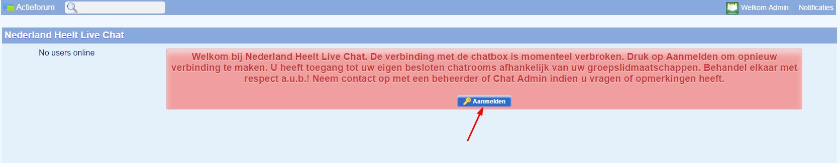 Hoe werkt de nieuwe Chatroom ? Chat-aanmelden