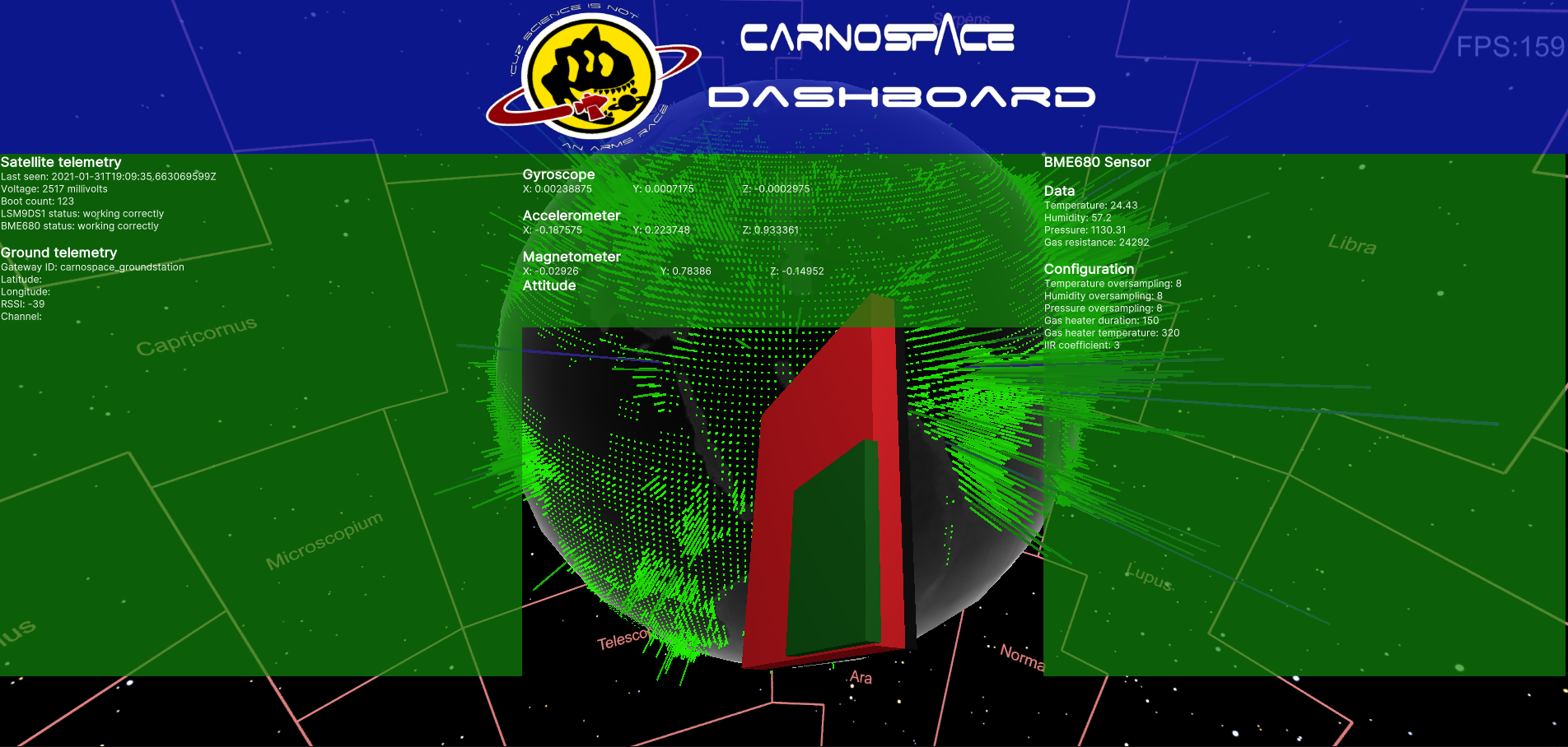 Carnospace Dashboard Demo