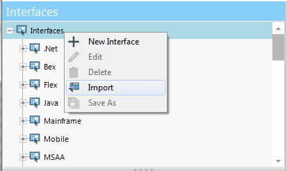 Import NeoLoad interface
