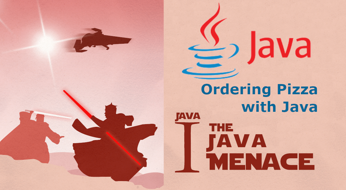 Star Wars-themed poster that reads The Java Menace