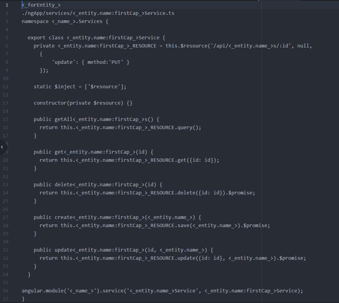 Entity Template File