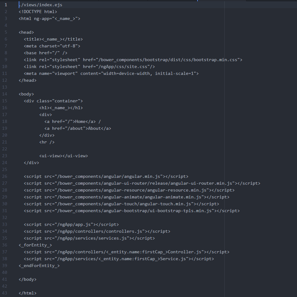 Static Template File