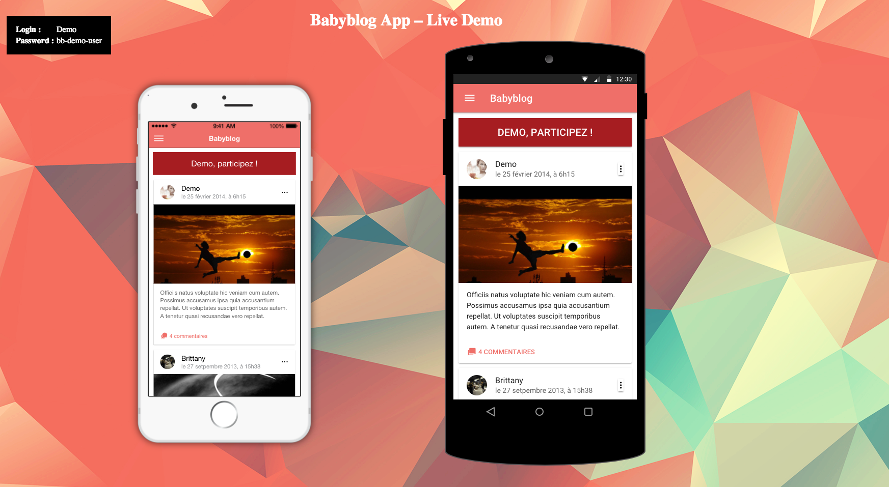 Babyblog App Preview