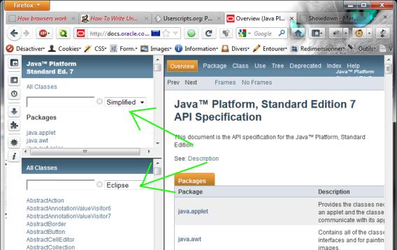 Greasemonkey User Script: Javadoc Instant Search