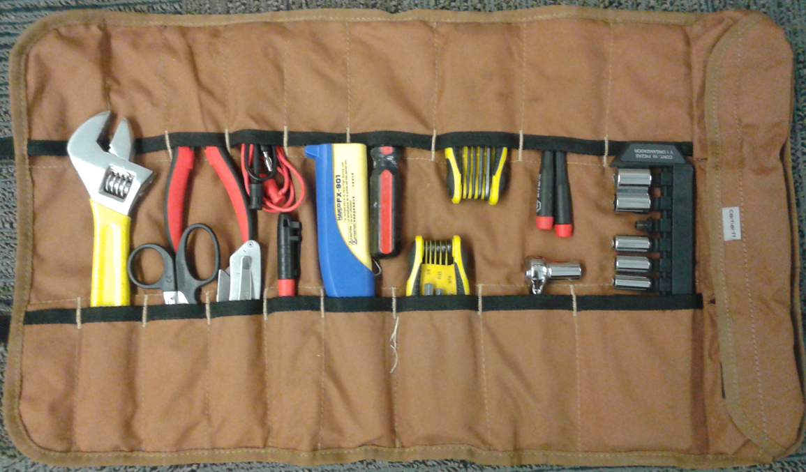 Andy's tool roll.