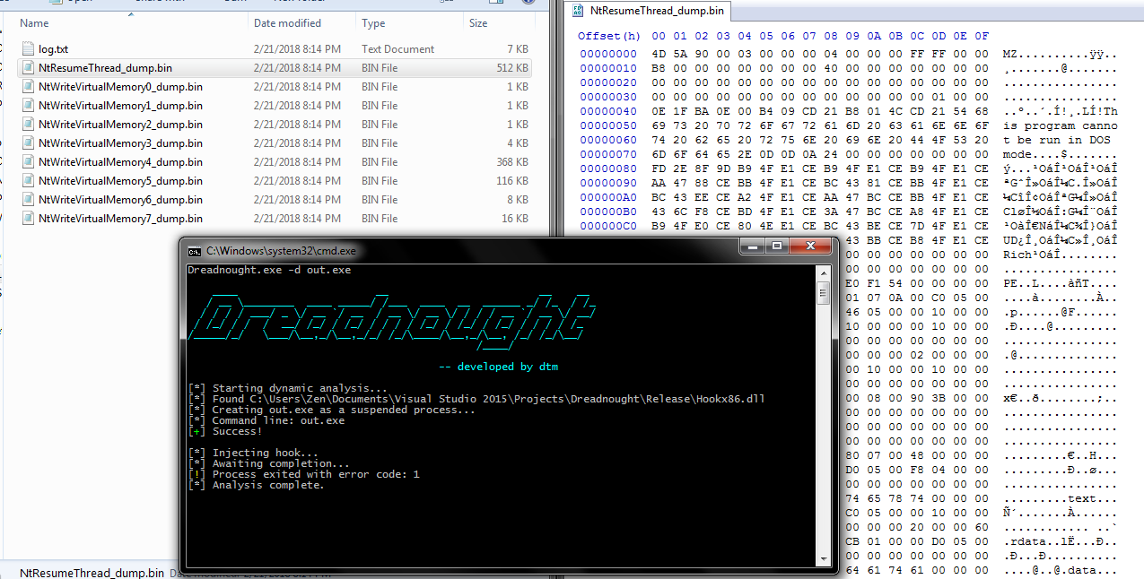 Userland API Monitoring and Code Injection Detection - Malware