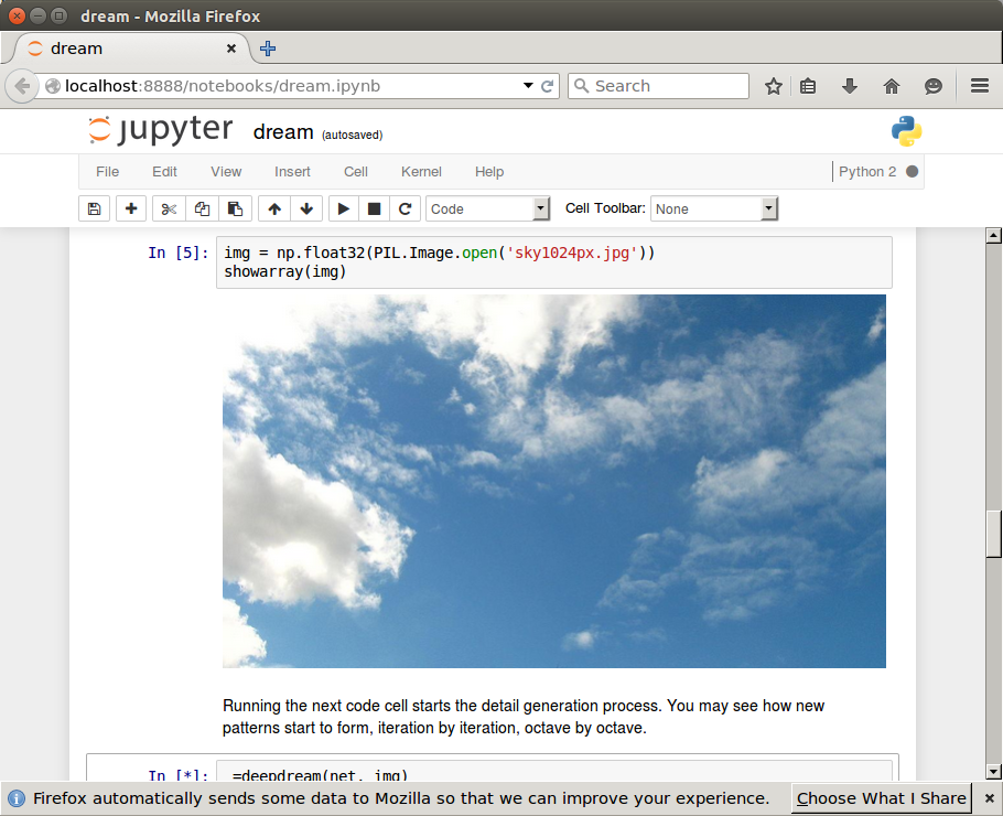This ipython notebook is running in a Docker container