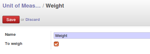 Change the field 'To weigh' for every category