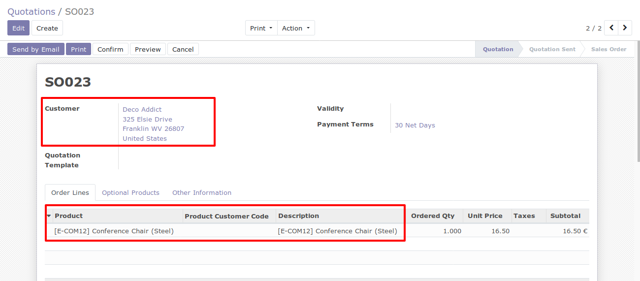Search by exist customer code