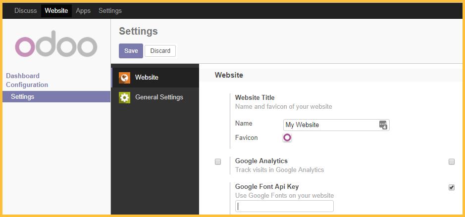 API key menu location