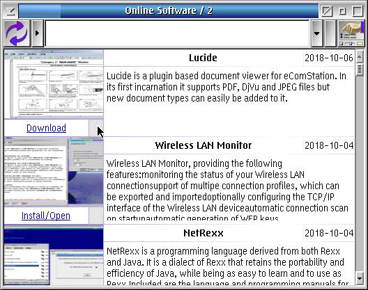 Program window of Online Sofware / 2