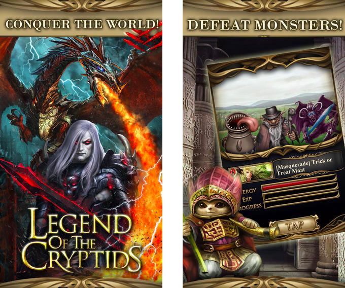 Legend of the Criptids, 2012年10月在苹果商店上排名第一