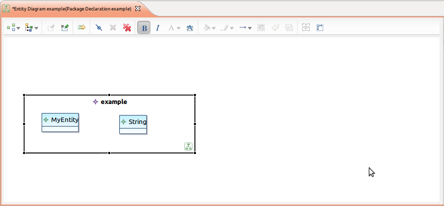 Screenshot of diagram without embedded text editor