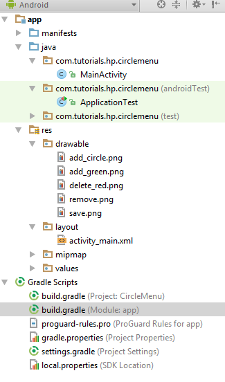 Android CircularFloatingActionMenu – Handle Events