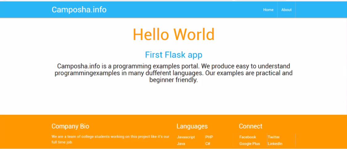 Python Flask Hello World
