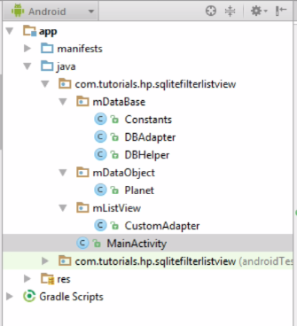 Android SQLite Database : ListView – Filter/Search and CRUD