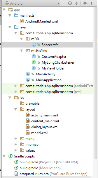 Android Sectioned RecyclerViewProject Structure