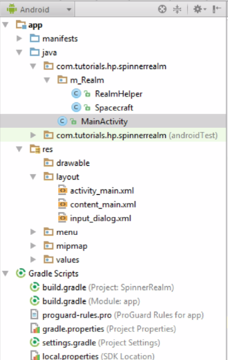 Android Realm : Spinner – Save,Retrieve,Fill