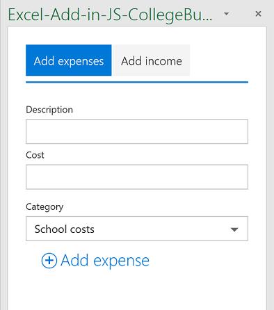 sample college budget
