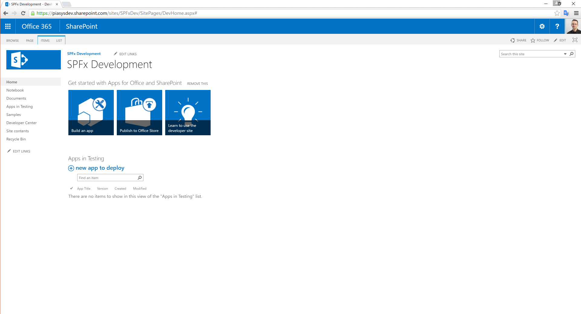 SharePoint Framework Developer Site - SharePoint Patterns ...