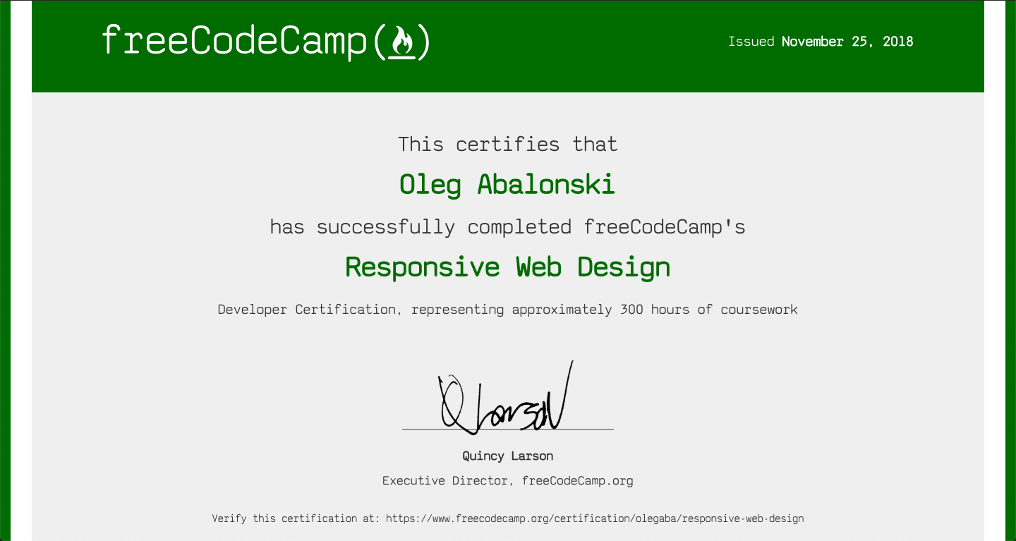 Github Olegaba Fcc Responsive Web Design Projects Tribute Page Survey Form Product Landing Page Technical Doc Page Personal Portfolio
