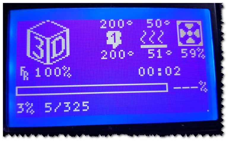 Example of Printer Display