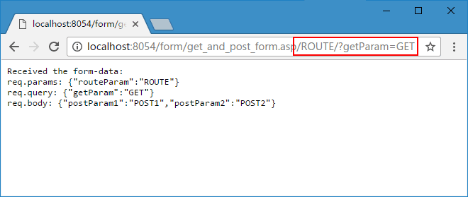 GET&POST 提交浏览器效果