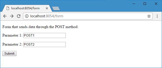 POST 浏览器效果