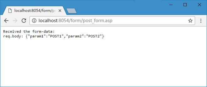POST 提交浏览器效果
