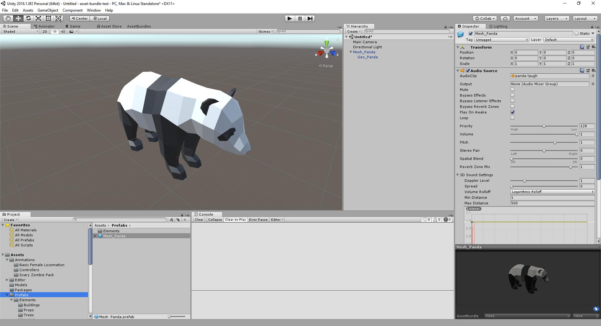 Panda Prefab Created