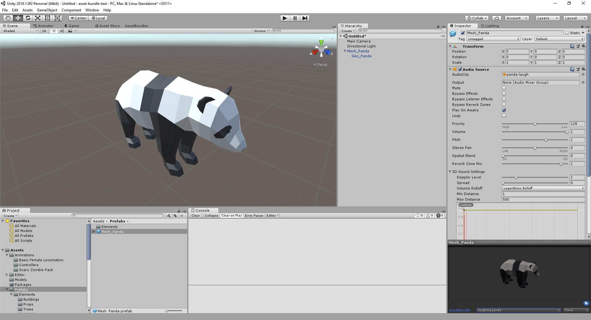 Panda Asset Bundle Created