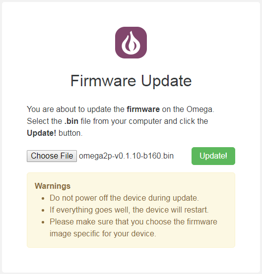 Firmware Flashing With Web Recovery Mode | Onion Omega2