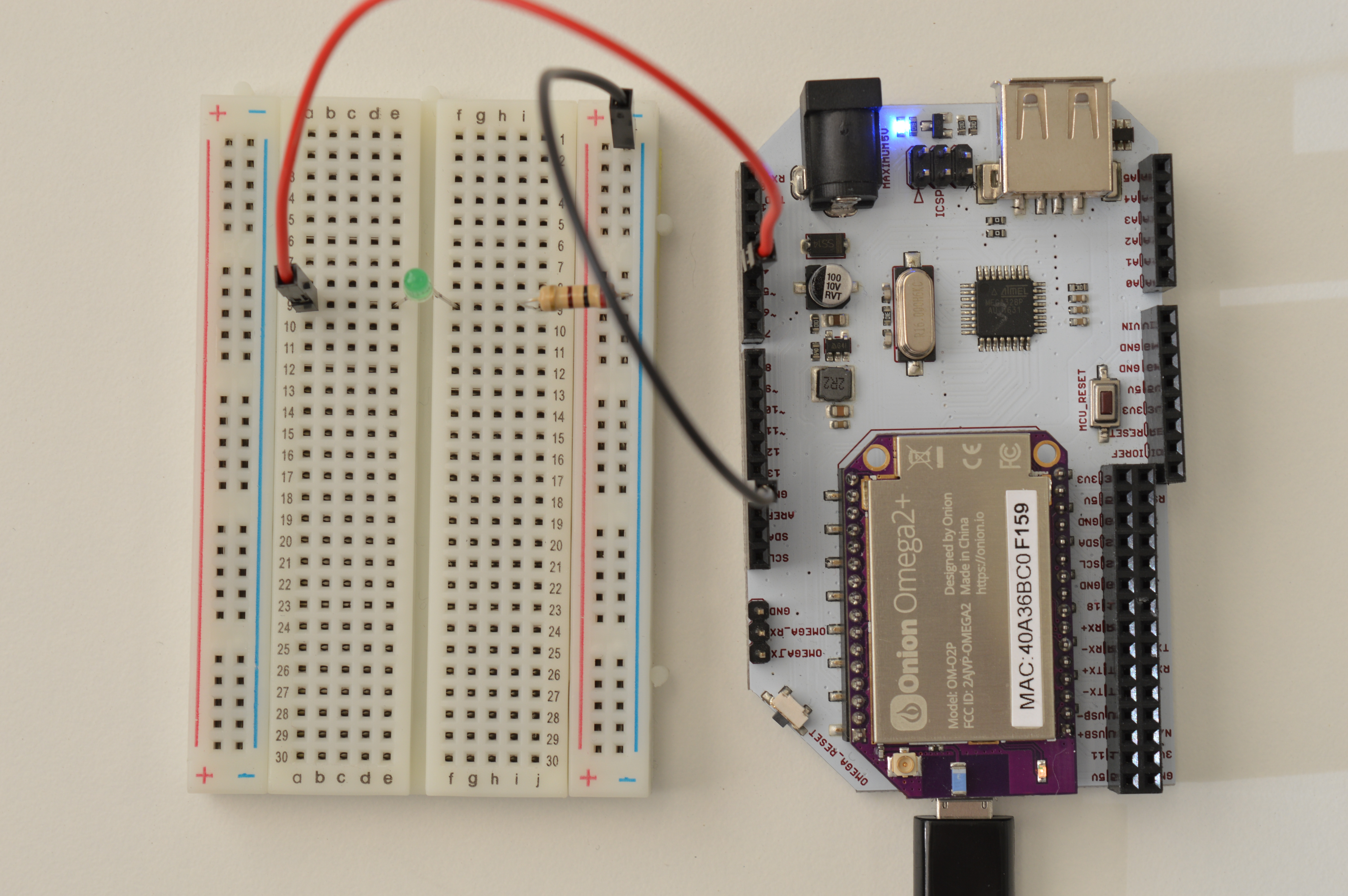 Onion Omega2 Arduino Dock Starter Kit Is A Simple Flashing Led Circuit Operating On The Breadboard Blinking
