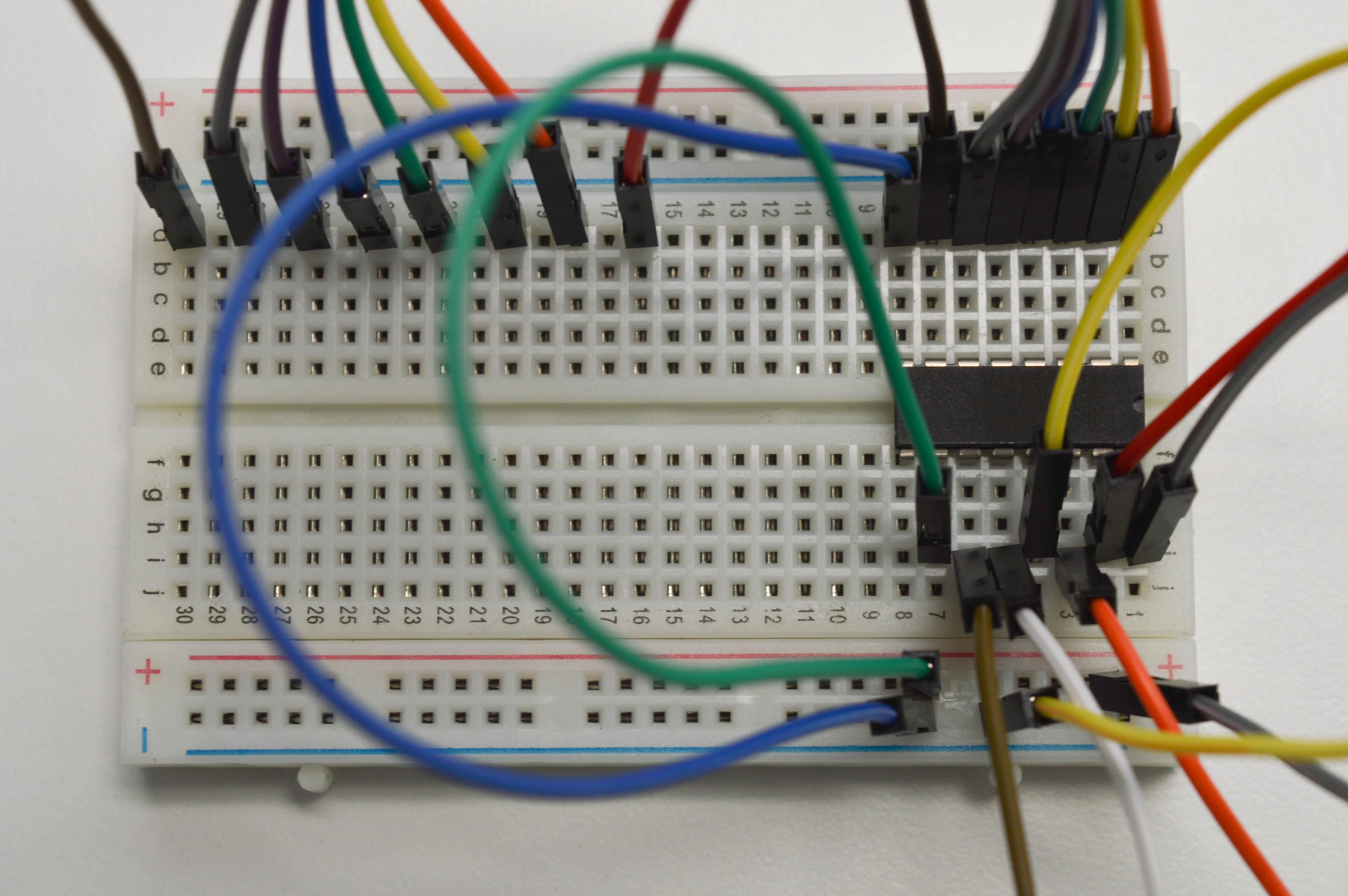 Shift register wired