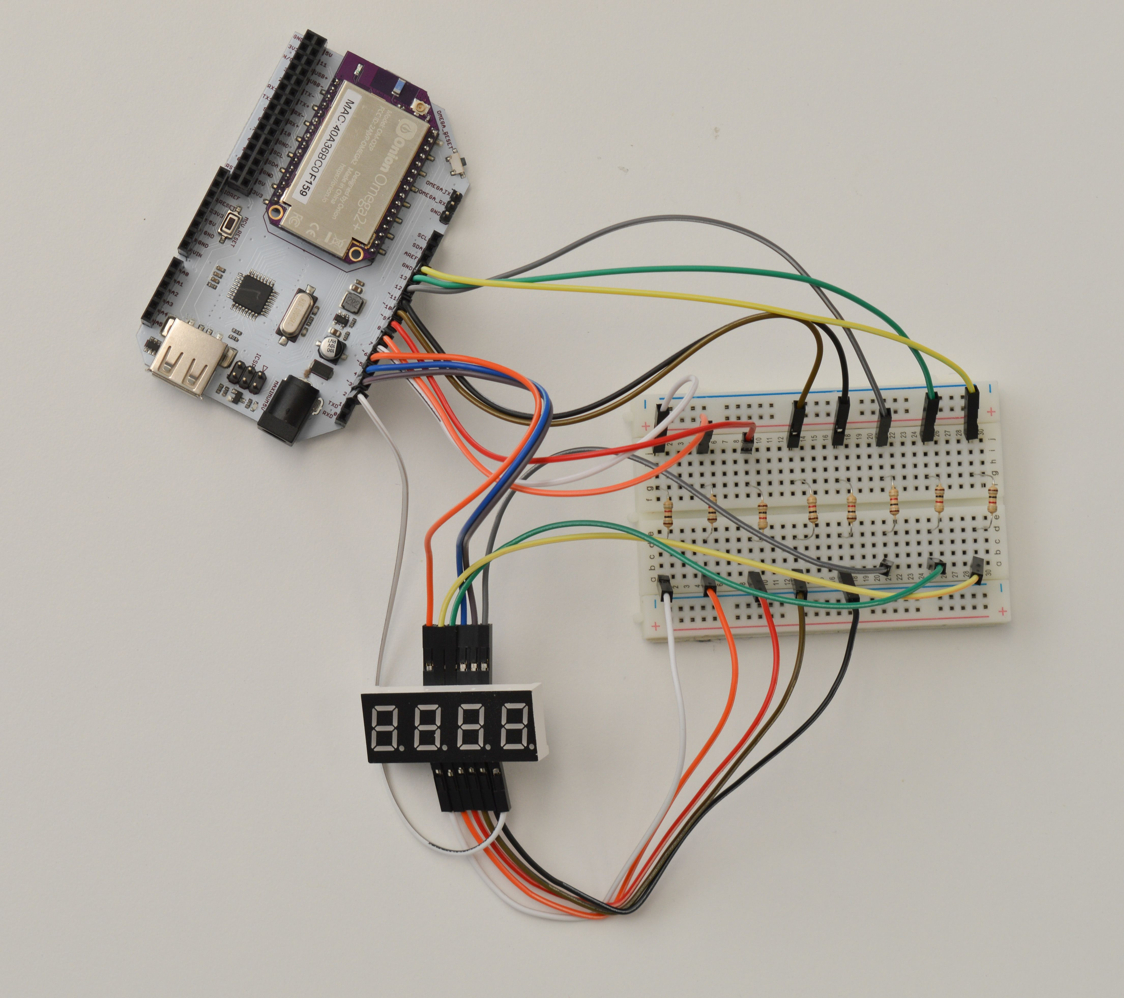 Onion Omega2 Arduino Dock Starter Kit Here Is The Schematic For 2digit 7segment Display Circuit Click Thats A Lot Of Jumpers