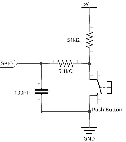 A sample debouncing circuit