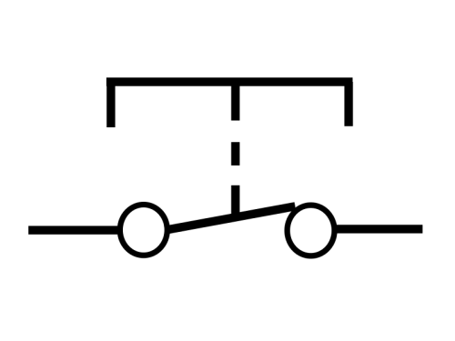 Circuit symbol of an SPST switch