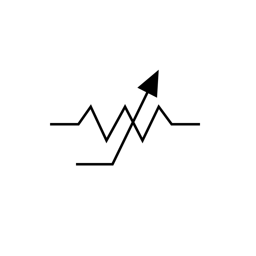 Circuit symbol of a trimpot