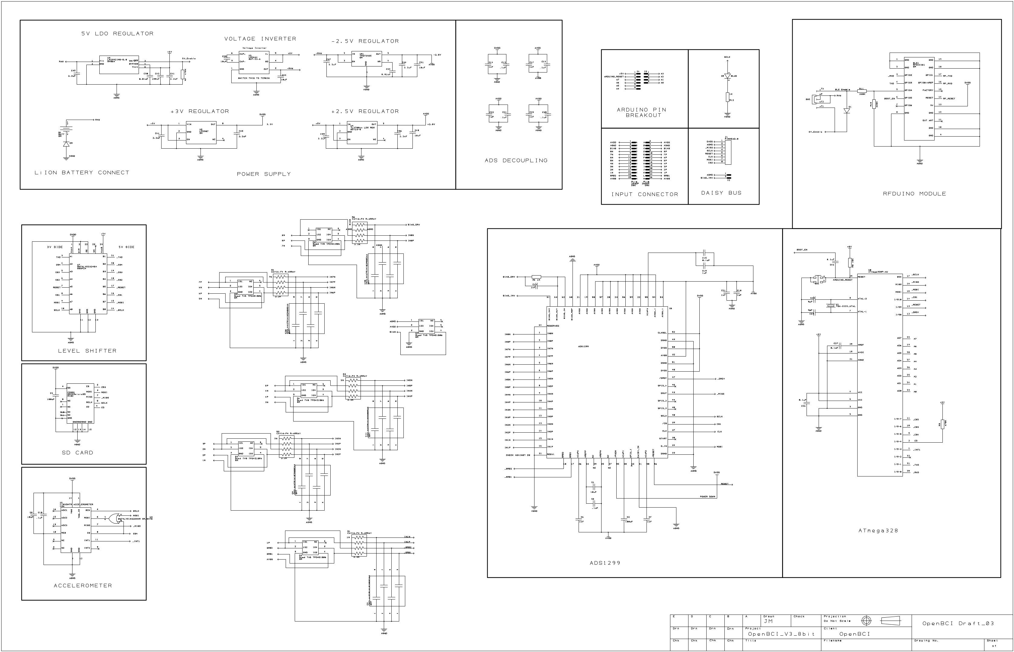 Openbci 8bit Board No Longer In Production Documentation Accelerometer Circuitschematic Schematic