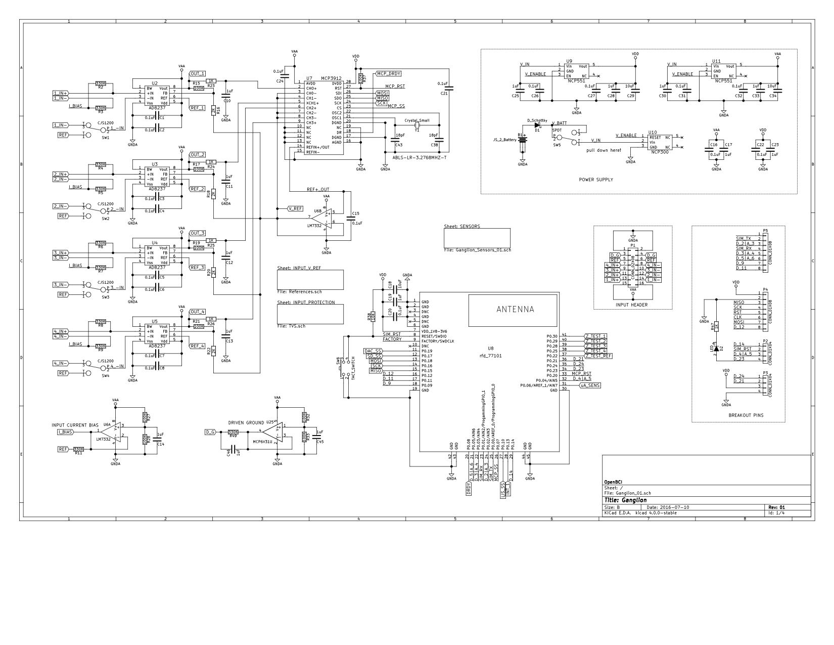 Openbci Ganglion Documentation Instrumentation Amplifier Circuit Diagram This Is Only The First Page Of Schematic Download Entire Here