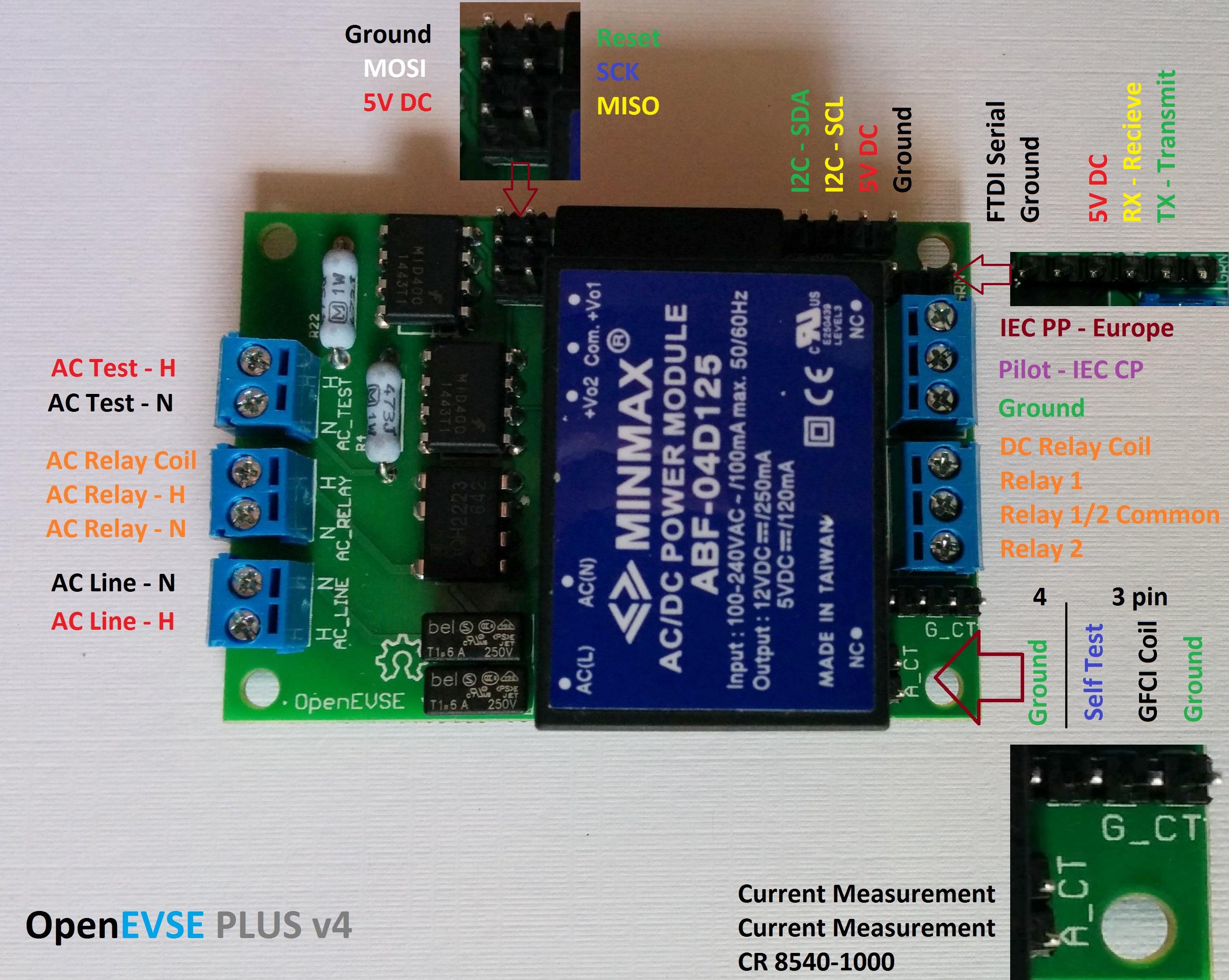 OpenEVSE Electric Vehicle controller v4 SAE J1772 IEC 61851