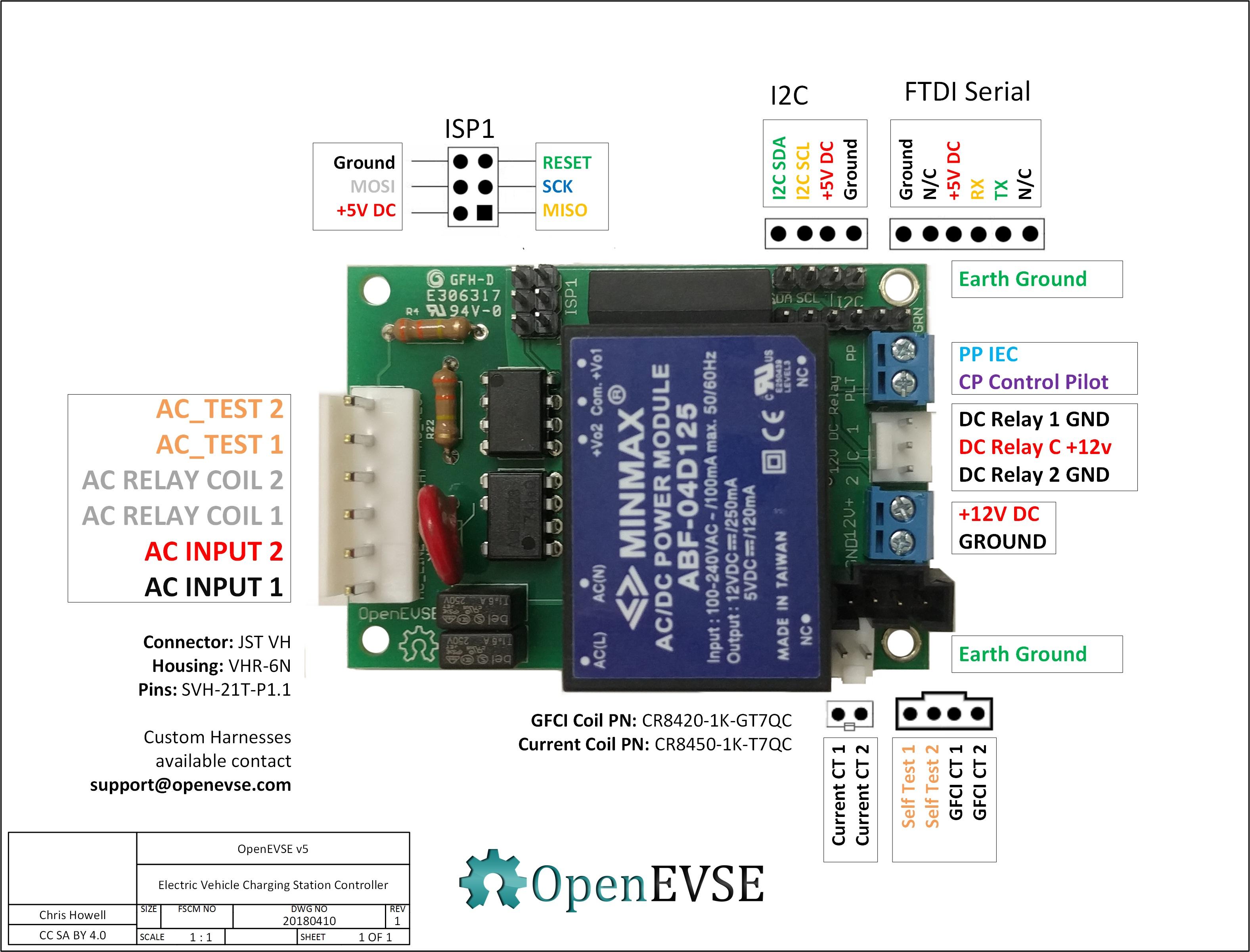 OpenEVSE Electric Vehicle controller v5 SAE J1772 IEC 61851