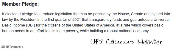 #UBICaucus pledge