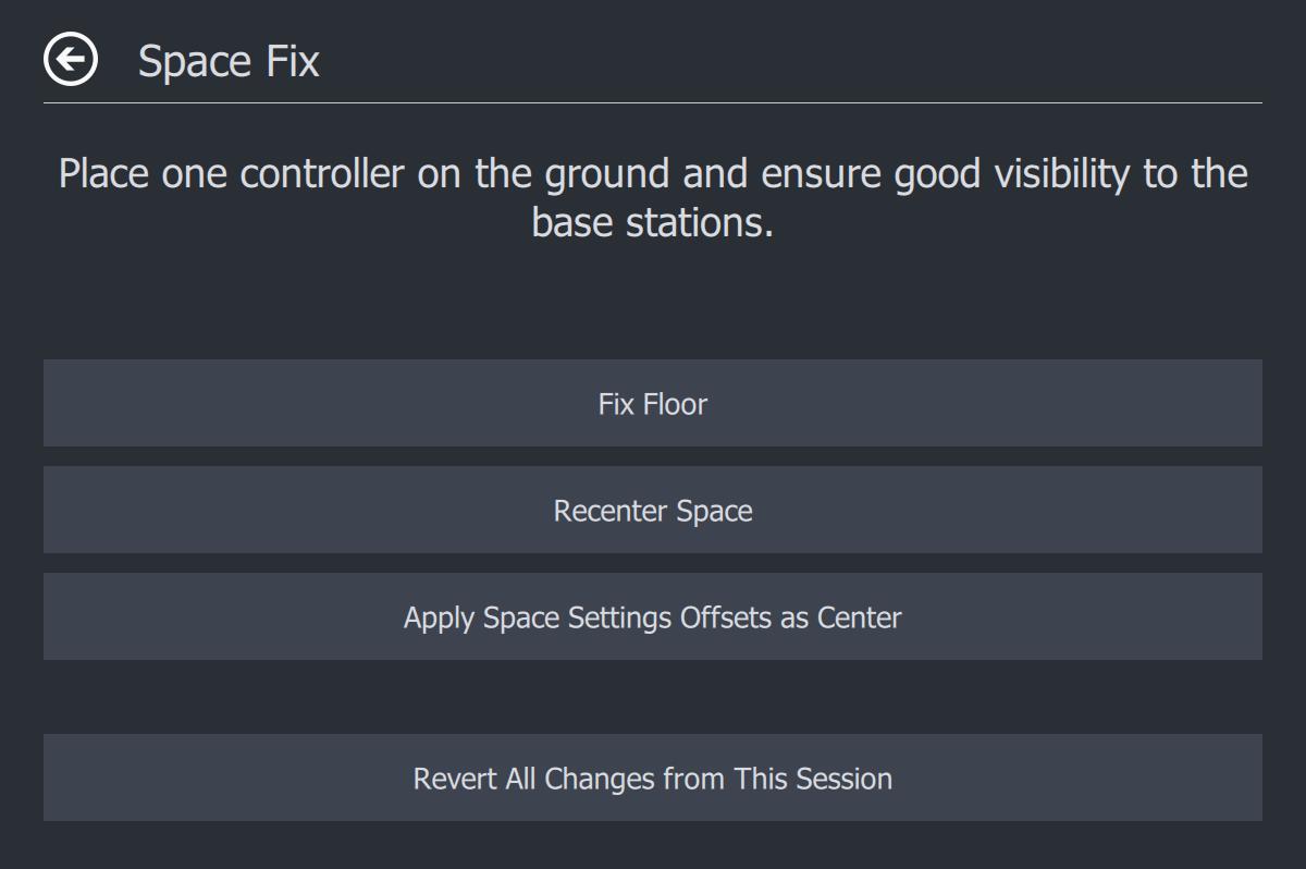 Space Fix ページ