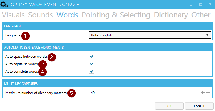 Change the dictionary language from the Management Console