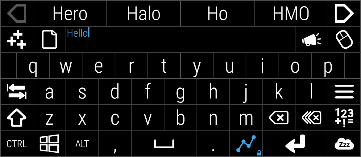 Multi-key selection of hello completed