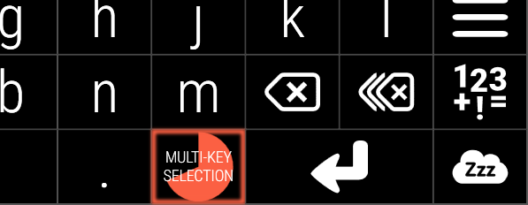 Multi-key selection key locked down
