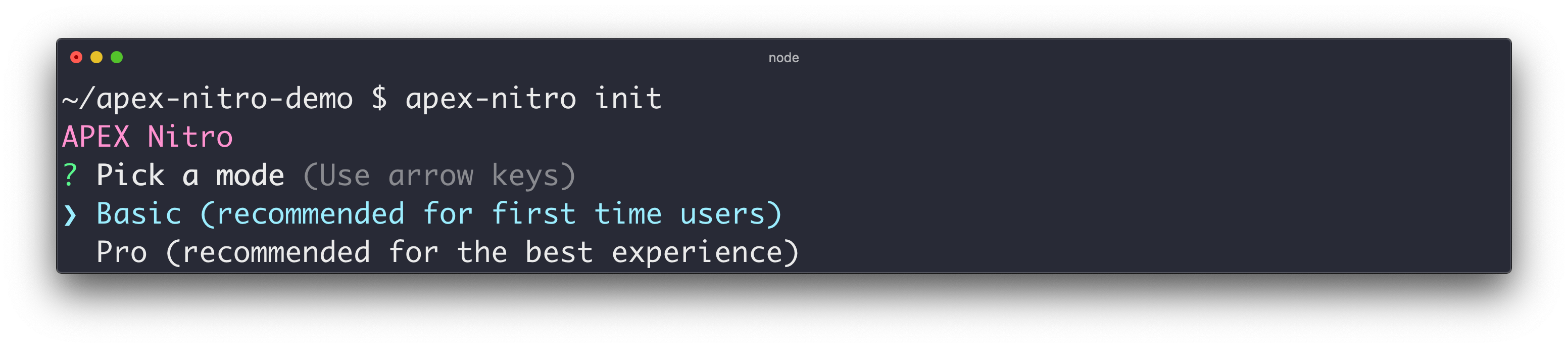 command-init