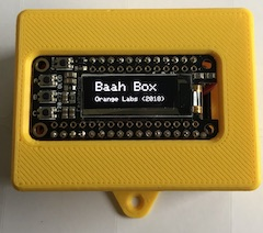 The Baah Box with 3Dprintable shield conncted in BLE to apps