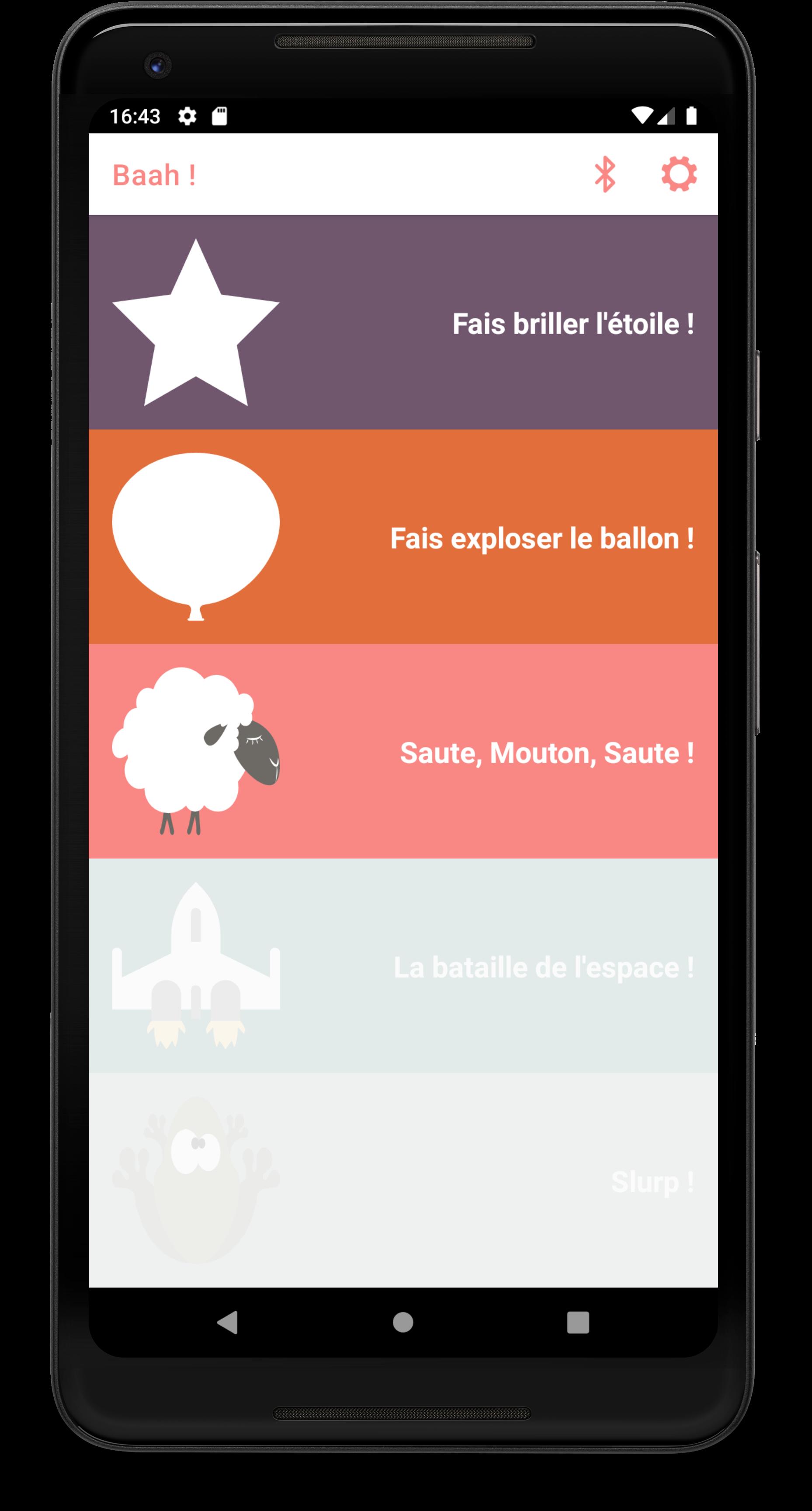 The main menu (version 0.6.0 of the app)